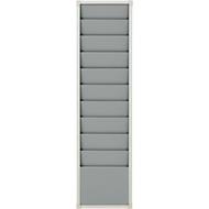 Planungstafel, DIN A4, 10 Schienen, H 1282 x B 315 mm