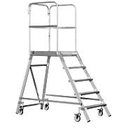 Plateforme mobile en aluminium, accessible d'1 côté, 3 marches