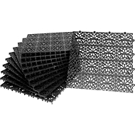 Platen Yoga Rooster, zwart, 11 stuks