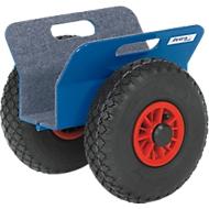 Platenroller, 300 x 340 x 300 mm, 30-95 mm, massief rubberen banden