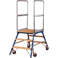 Platformladder, vrij verrijdbaar, tweezijdig, Treden beuken, m. 3, 40 kg