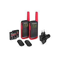 PMR-Funkgeräteset Motorola TALKABOUT T62, 2-tlg, lizenzfrei, Reichweite 8 km, 16 Kanäle, schwarz/rot