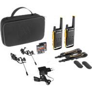 PMR-Funkgeräteset Motorola TALKABOUT T82 Extreme, lizenzfrei, IPx4, 10 km, 16 Kanäle, 2er-Set