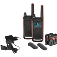 PMR-portofoonset Motorola TALKABOUT T82, 2-delig, zonder licentie, IPx2, 10 km, 16 kanalen, zwart/oranje