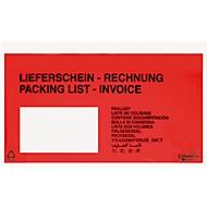 Pochettes à documents UNIPACK.avec Impression: Lieferschein-Rechnung