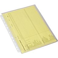Pochettes avec un pli à soufflet, DIN A4, 10 pièces, transparent