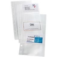 Pochettes pour porte cartes de visite, 1 paquet de 10 pièces