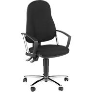 POINT 60 bureaustoel, permanentcontactmechanisme, met armleuningen, lendewervelsteun, kuipzitting, zwart