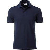 Poloshirt Herren Men's Basic, Biobaumwolle, 4-Knopfleiste, Werbedruck, navy, Gr. XL