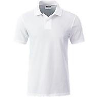 Poloshirt Herren Men's Basic, Biobaumwolle, 4-Knopfleiste, Werbedruck, white, Gr. XXL