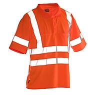 Poloshirt Jobman 5592 PRACTICAL Hi-Vis, 6 Reflektonsstreifen, EN ISO 20471 Klasse 2/3, PSA 2, orange, Größe XS