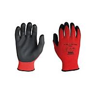 Polyester-Strickhandschuh Rottex, Nitril Handflächen-Beschichtung, flüssigkeitsdicht, 12 Paar, Größe L