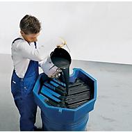 Polyethenen vattrechter met hoge rand, Ø 690 mm, 22 liter, met zeef en zonder deksel