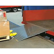 Pont de chargement en aluminium, 1250 x 800 mm, charge admissible 600 kg
