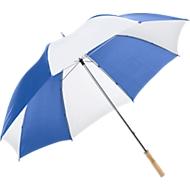 Portierschirm, blau/weiß