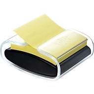 Post-it Distributeur Z-Notes Pro-B1Y, noir/transparent 1 bloc Post It inclus, set