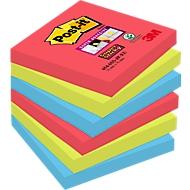 POST-IT Haftnotizen Super sticky, 76 mm x 76 mm, 90 Blatt, 6er Pack, Bora Bora Collection