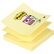 Post-it® Super Sticky Z-Notes, 76 x 76 mm, jaune, bloc de 90 feuillets