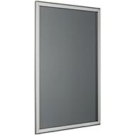 Posterwissellijst, zilver geëloxeerd aluminium, met rechte hoeken, formaat A4, 254 x 341 mm