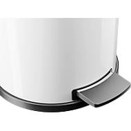 Poubelle à pédale 14 litres Profi Line Solid, avec bac intérieur en plastique, blanc