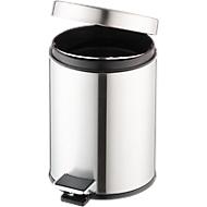Poubelle à pédale, 3 litres, Ø 200 x H 280 mm, inox