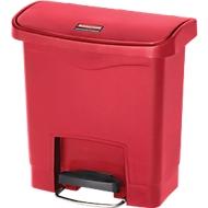 Poubelle à pédale Slim Jim®, plastique, contenance 15 L, rouge