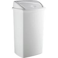 Poubelle plastique à couvercle basculant, 15 litres