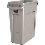 Poubelle Slim Jim®, plastique, contenance 60 L, beige