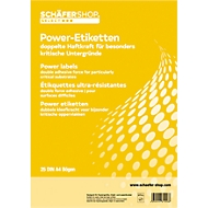 Power etiketten 45,7 x 21,2 mm, 25 vellen