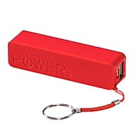 Powerbank, 2200mAh, Rot, Standard, Auswahl Werbeanbringung optional