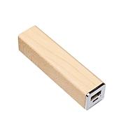 Powerbank Q-Pack Solid Holz 2.600 mAh Lithium-Polymer Akku, Ahorn