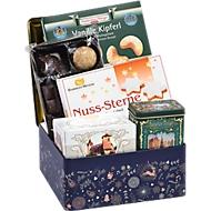 Präsentdose Weihnachtszauber, edle Truhe, gefüllt mit Weihnachtsgebäck