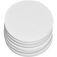 Presentatiekaartjes, rond, Ø 140 mm, wit, 250 stuks