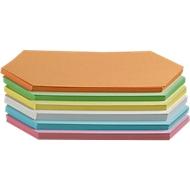 Presentatiekaartjes, ruitvormig, 95 x 205 mm, 250 st., diverse kleuren