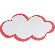 Presentatiekaartjes, wolkvormig, 60 x 100 mm, zelfklevend, 20 stuks, wit/rood