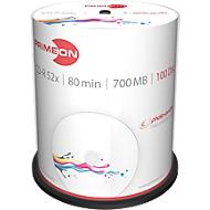 PRIMEON CD-R, bedrukbaar, 52-x, 700 MB/80 min, spindel met 100 stuks