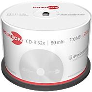 PRIMEON CD-R, bis 52fach, 700 MB/80 min, 50er-Spindel