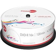 PRIMEON DVD-R, bedrukbaar, tot 16-voudig, 4,7 GB/120 min, spindel met 25 stuks
