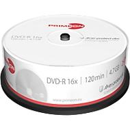 PRIMEON DVD-R, tot 16-voudig, 4,7 GB/120 min, spindel met 25 stuks