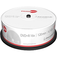 PRIMEON DVD+R, tot 16-voudig, 4,7 GB/120 min, spindel met 25 stuks