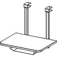 Printerblad, voor bureautafelsysteem MODENA FLEX, lichtgrijs