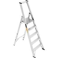 Professionele platformladder, aluminium, 5 treden