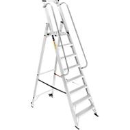 Profi-Plattformleiter, mit Handlauf, Aluminium, 8 Stufen
