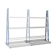 Profiel-magazijnrek, dubbelzijdig, aanbouwsectie, H 3000 x L 1500 x D 600 mm