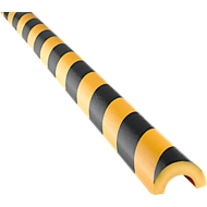 Profilé de protection et d'avertissement Knuffi®, type de protection de tuyau R30, jaune-noir, autocollant