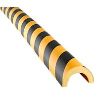 Profilé de protection et d'avertissement type 350, mousse polyuréthane, jaune/noir, longueur 1 mètre
