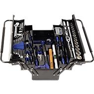 Projahn gereedschapskoffer met 84 gereedschappen, metrische, scharnierende handgrepen