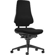 Prosedia Bürostuhl GALANOS III, Synchronmechanik, ohne Armlehnen, Wellness-Sitz, Lordosenstütze, schwarz/anthrazit