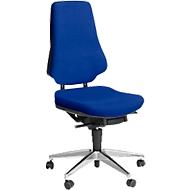 Prosedia Bürostuhl GALANOS IV, Synchronmechanik, ohne Armlehnen, Lordosenstütze, Wellness-Sitz, blau/anthrazit