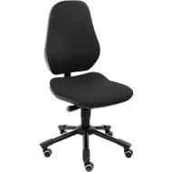 Prosedia Bürostuhl LEANOS III, Permanentkontakt, ohne Armlehnen, Bandscheibensitz, schwarz/schwarz